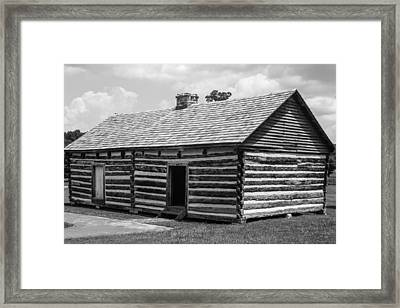 Framed Print featuring the photograph Slave Quarters At The Hermitage by Robert Hebert
