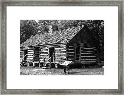 Framed Print featuring the photograph Slave Quarters Belle Meade Plantation by Robert Hebert