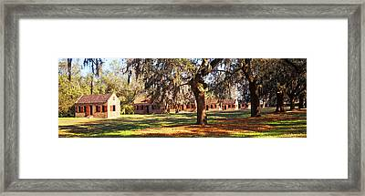 Slave Quarters, Boone Hall Plantation Framed Print by Panoramic Images