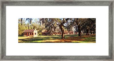 Slave Quarters, Boone Hall Plantation Framed Print