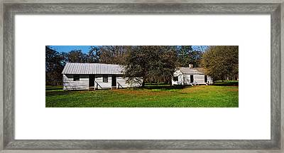 Slave Quarters, Magnolia Plantation And Framed Print