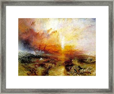 Slave Ship Framed Print by Joseph Mallord William Turner