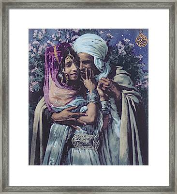 Slave To Love Framed Print by Alphonse Etienne Dinet