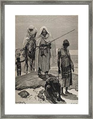 Slave Traders Returning To Timbuktu Framed Print by Everett