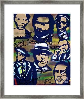 Slavery To Freedom Framed Print by Tony B Conscious