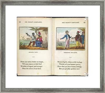 Slaves Being Traded Framed Print by British Library