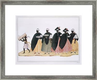 Slaves Dressed For Fiesta Del Rosario Framed Print by Everett