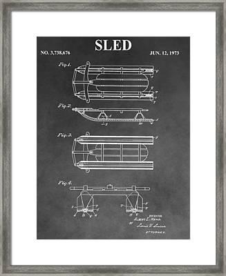 Sled Patent Framed Print