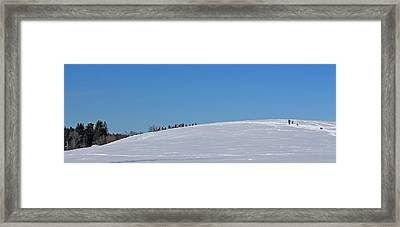 Dexter Drumlin Hill Sledding Framed Print