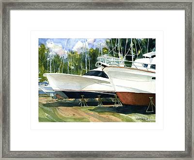 Sleek Hulls Framed Print