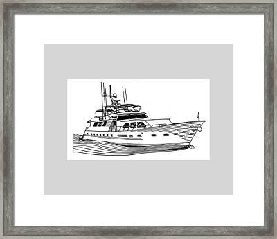 Sleek Motoryacht Framed Print by Jack Pumphrey
