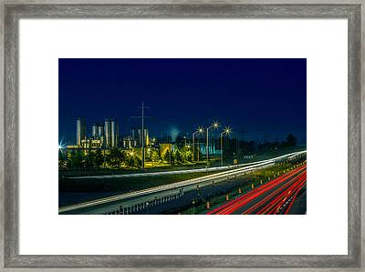 Sleeman Brewery At Night Framed Print by Nick Mares