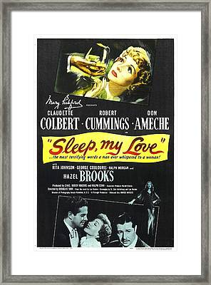 Sleep, My Love, Us Poster, Bottom Framed Print by Everett