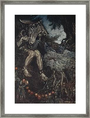 Sleep Thou, And I Will Wind Thee Framed Print by Arthur Rackham
