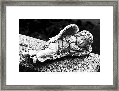Sleeping Angel Framed Print by John Rizzuto