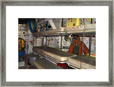 Sleeping Area Russian Submarine Framed Print by Thomas Woolworth