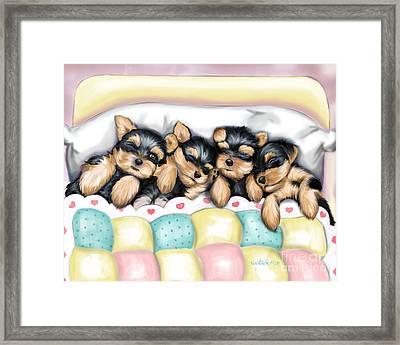 Sleeping Babies Framed Print by Catia Cho