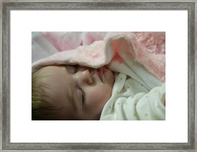 Sleeping Baby Framed Print