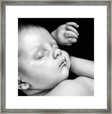 Sleeping Baby Framed Print