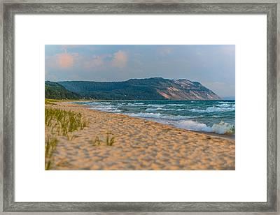 Sleeping Bear Dunes At Sunset Framed Print