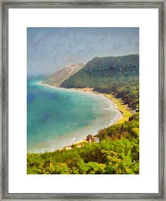 Sleeping Bear Dunes Lakeshore View Framed Print by Dan Sproul