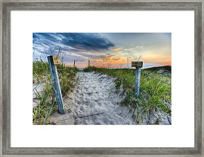 Sleeping Bear National Lakeshore Sunset Framed Print by Sebastian Musial