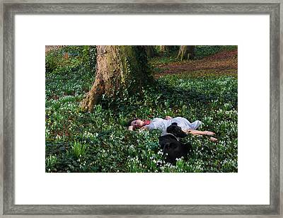 Sleeping Beauty And Friend Framed Print by Semmick Photo