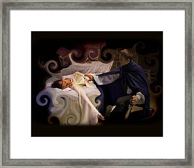 Sleeping Beauty And Prince Framed Print by Angela Castillo