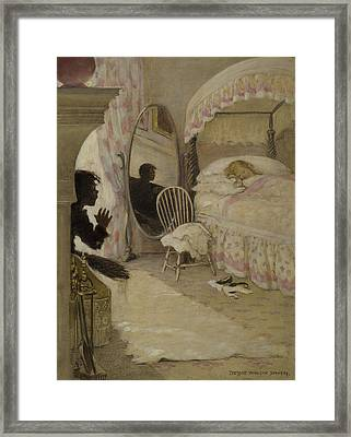 Sleeping Beauty Circa 1916 Framed Print by Aged Pixel