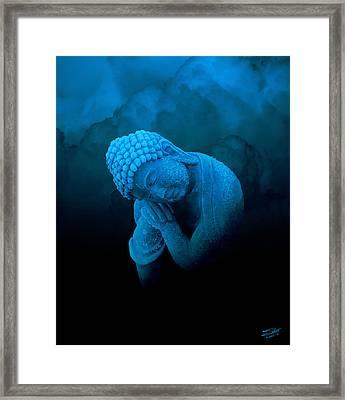 Sleeping Blue Buddha Framed Print by IM Spadecaller