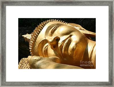 Framed Print featuring the photograph Sleeping Buddha by Nola Lee Kelsey