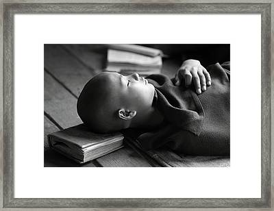 Sleeping Buddha Framed Print