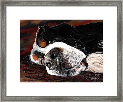 Sleeping Dogs Lie Framed Print by Liane Weyers