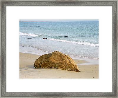 Sleeping Giant  Framed Print by Kathy Barney