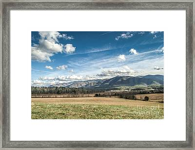 Framed Print featuring the photograph Sleeping Giants In Cades Cove by Debbie Green