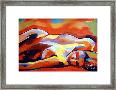Framed Print featuring the painting Sleeping Lady by Helena Wierzbicki