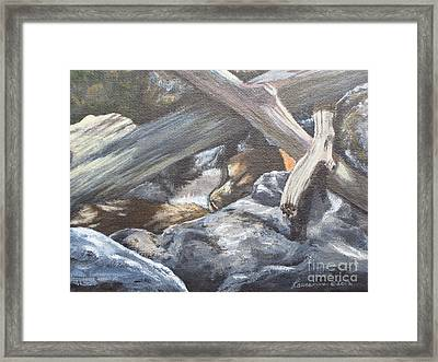 Framed Print featuring the painting Sleeping Lion by Laurianna Taylor