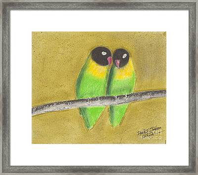 Sleeping Love Birds Framed Print