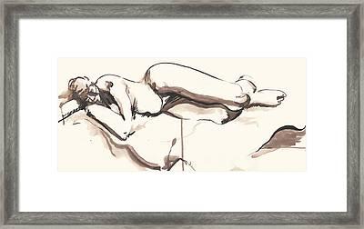 Sleeping Nude Framed Print