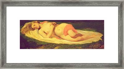 Sleeping Nymph Framed Print by Jean Baptiste Ange Tissier