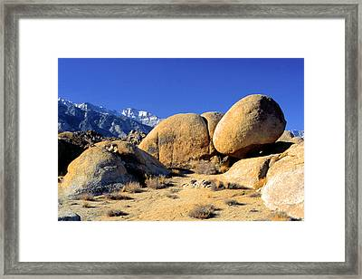 Sleeping Rock Alabama Hills Framed Print