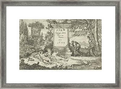 Sleeping Shepherdesses, Print Maker Unknown Framed Print