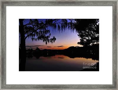 Sleeping Sun Framed Print by Kaye Menner