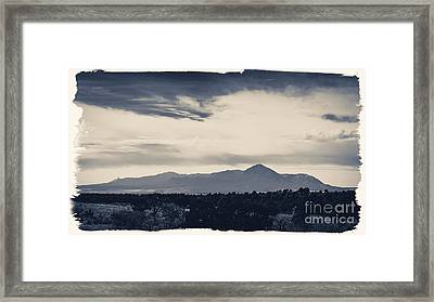 Sleeping Ute Mountain Framed Print