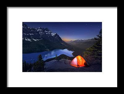 Peyto Lake Framed Prints