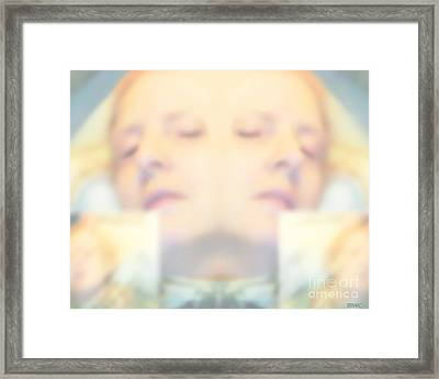 Sleeping Woman Drifting In Dreams Framed Print