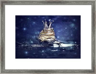 Sleepless Frog Prince Framed Print