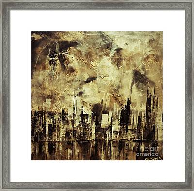 Sleepless Skyline Framed Print by Kusum Vij