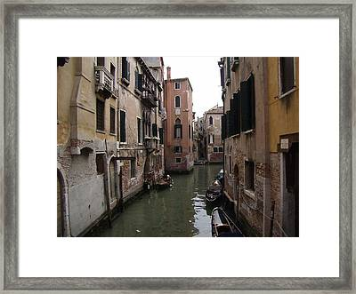 Sleepy Afternoon In Venice Framed Print