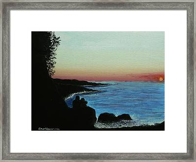 Sleepy Blue Ocean Framed Print